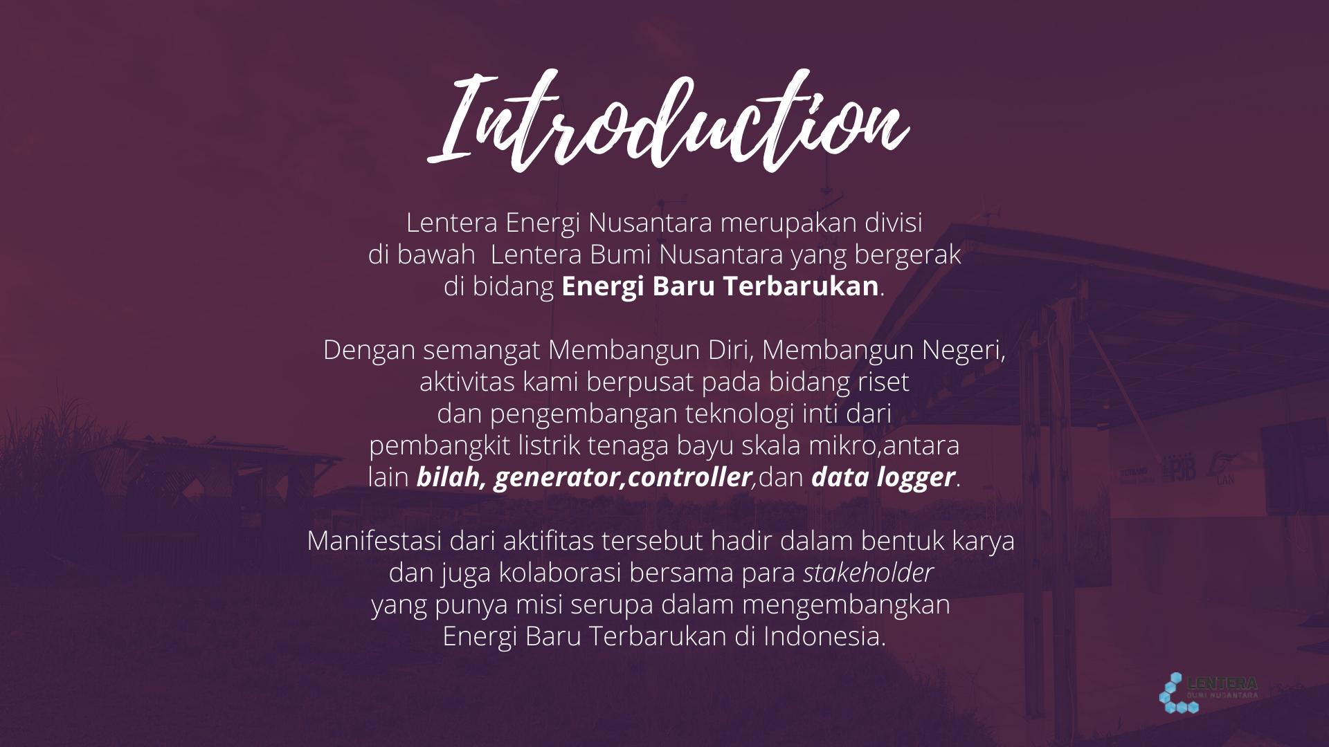 lentera energi nusantara ciheras lentera bumi